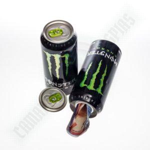 lata de bebida energética para ocultar dinero