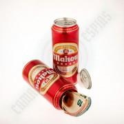 lata grande de cerveza para ocultar dinero